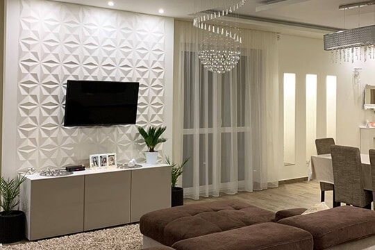 mur tv décoratif